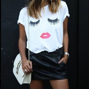 Tops - Lips and Lashes Graphic Tee